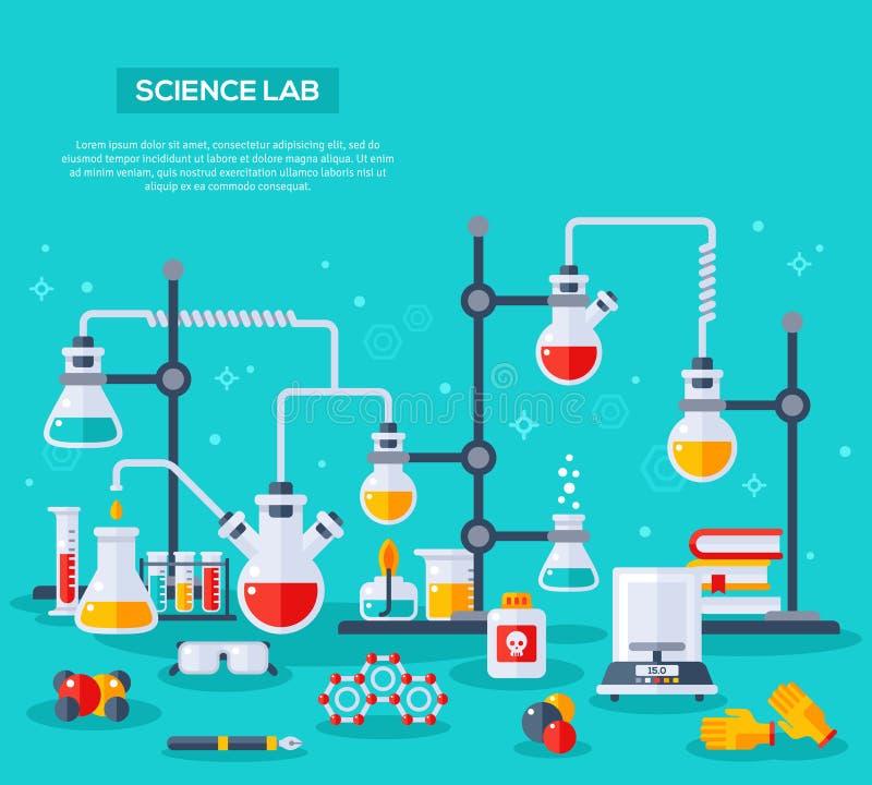 Concept d'expérience de chimie illustration de vecteur