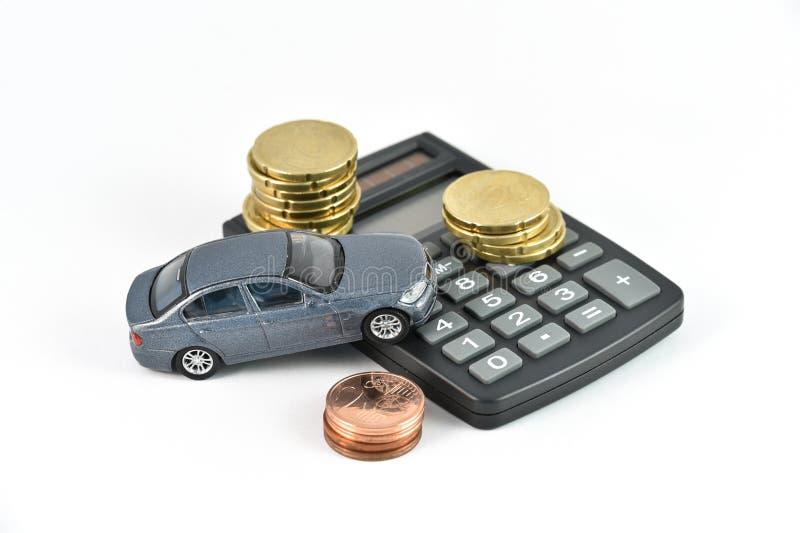 Concept d'expences de location de voiture image stock
