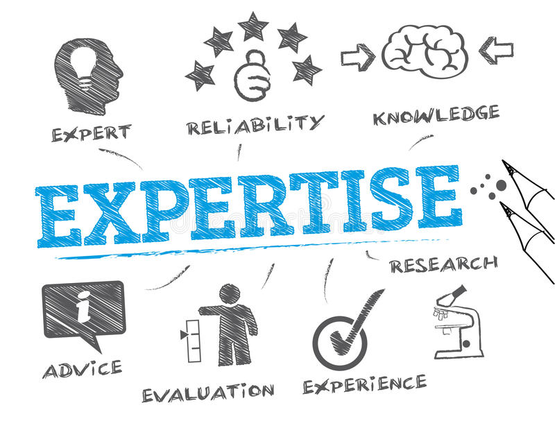 Concept d'expertise illustration stock