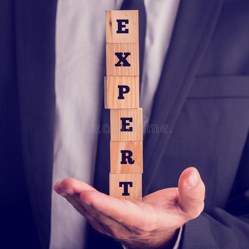 Concept d'expertise professionnelle images stock