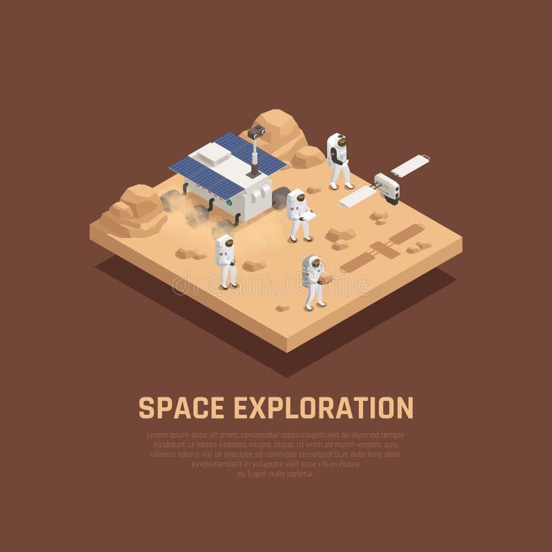 Concept d'exploration d'espace illustration de vecteur