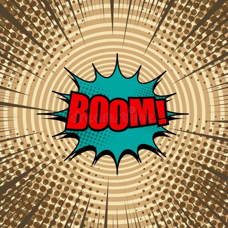Concept d'explosif de page de bande dessin?e illustration stock