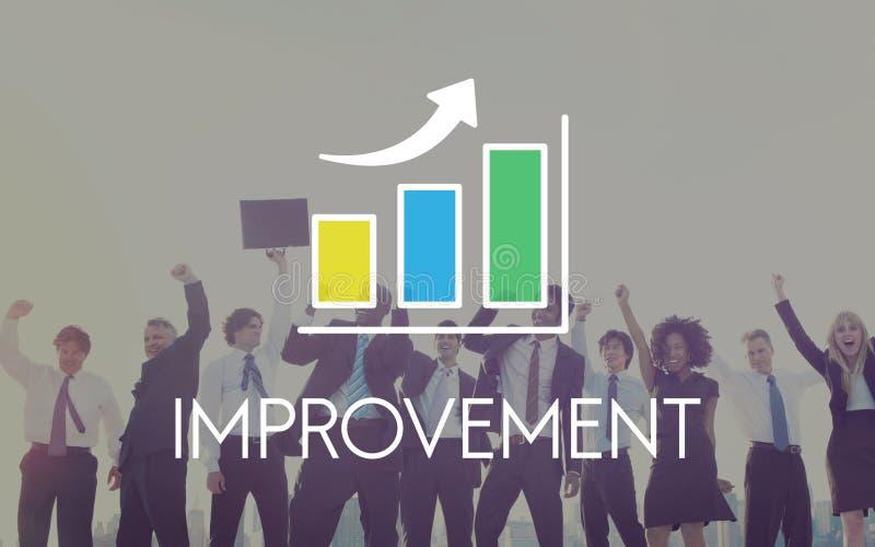 Concept d'histogramme de croissance de développement des affaires photos stock