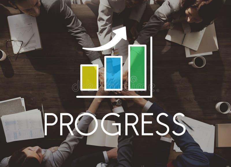 Concept d'histogramme de croissance de développement des affaires photo stock