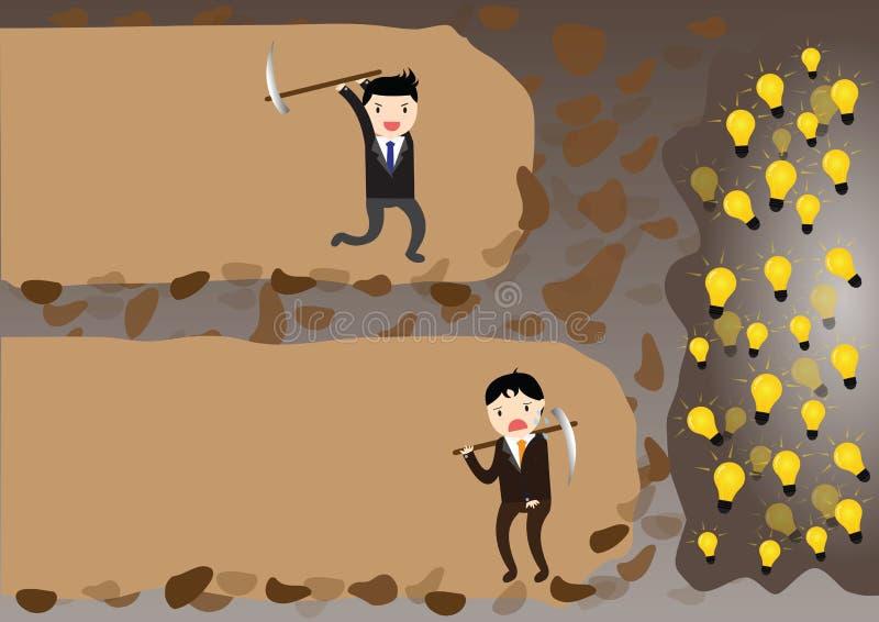 Concept d'homme d'affaires illustration stock