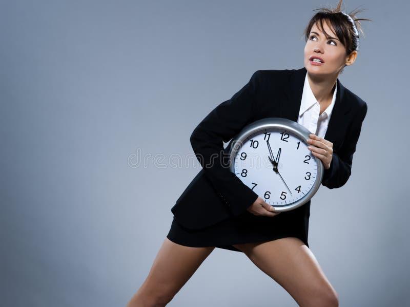 Concept d'horloge biologique de femme images libres de droits