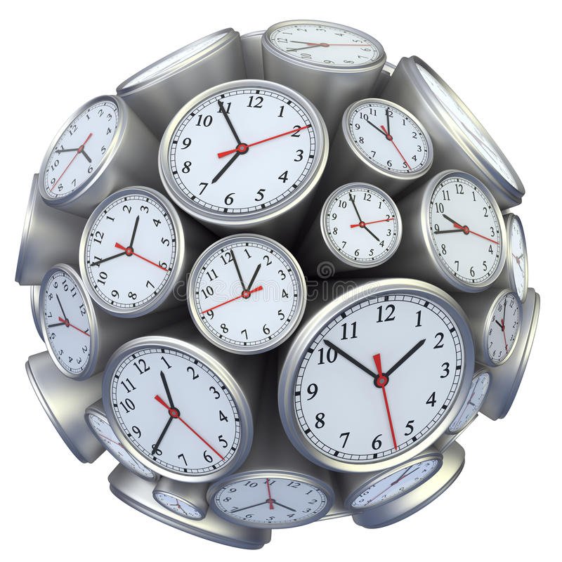 Concept d'horloge murale illustration libre de droits
