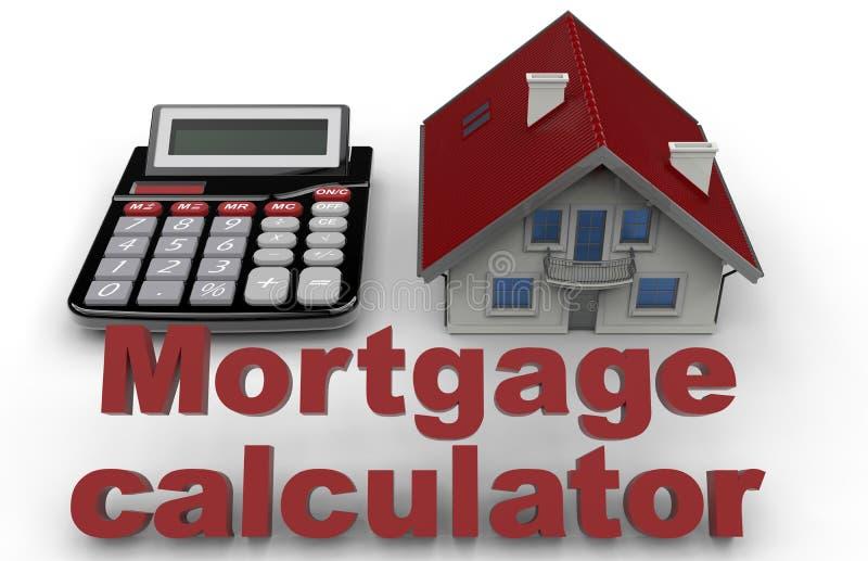 Concept d'hypothèque immobilière illustration de vecteur