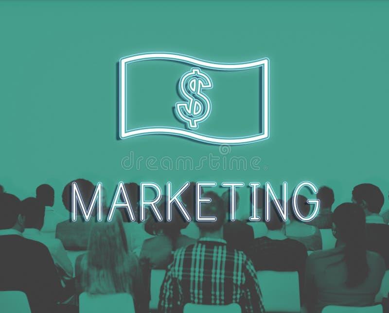 Concept d'icône d'argent de comptabilité de flux de liquidités d'économie image libre de droits