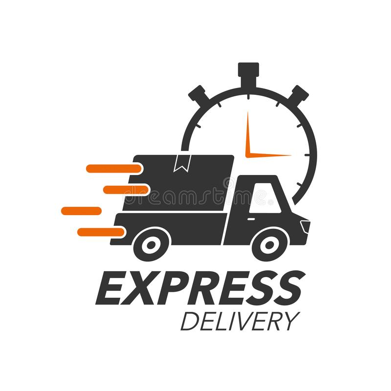 Concept d'icône de la livraison express Collecte avec l'icône de chronomètre illustration libre de droits