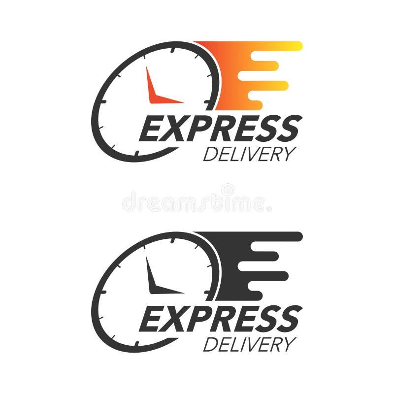 Concept d'icône de la livraison express Observez l'icône pour le service, l'ordre, fa illustration de vecteur