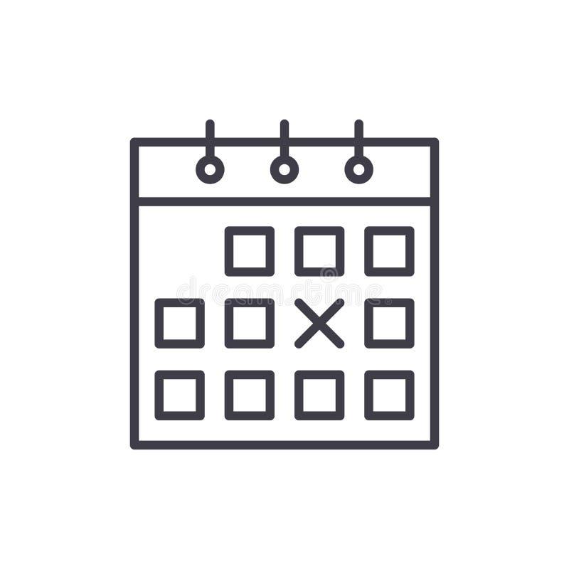 Concept d'icône de noir de planification financière Symbole plat de vecteur de planification financière, signe, illustration illustration de vecteur