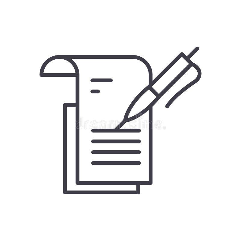 Concept d'icône de noir de rapport d'étude Étudiez le symbole plat de vecteur de rapport, signe, illustration illustration de vecteur
