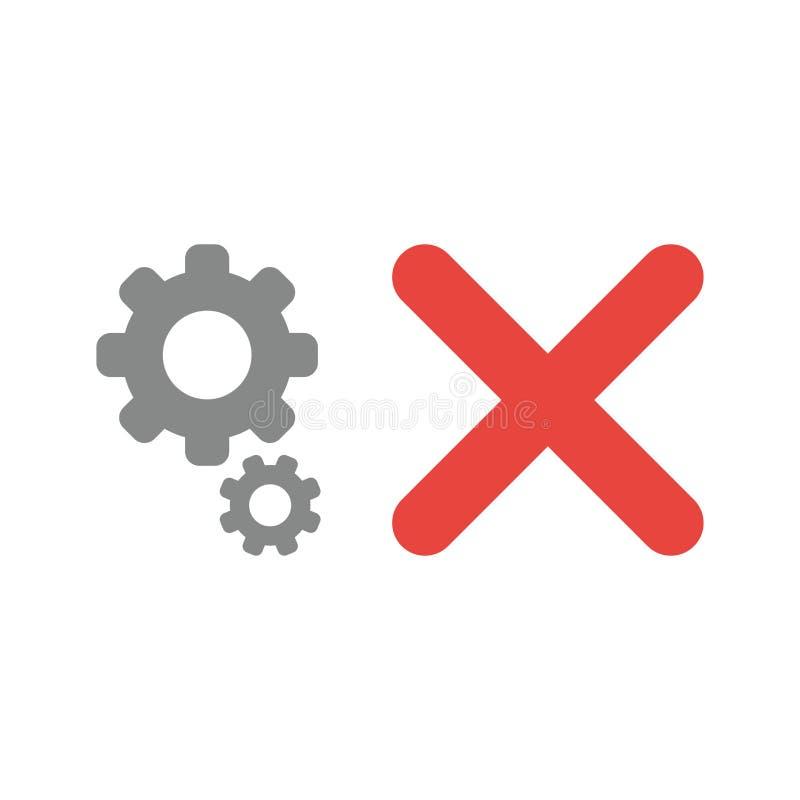 Concept d'icône de vecteur des vitesses avec la marque de x illustration libre de droits