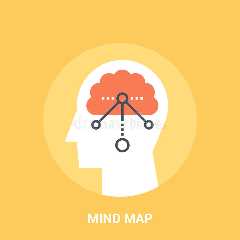 Concept d'icône de carte d'esprit illustration stock