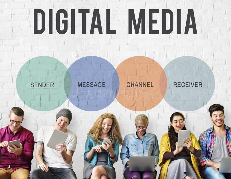 Concept d'icône de mise en réseau de connexion de communication photo libre de droits