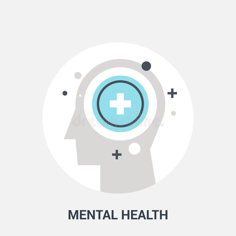 Concept d'icône de santé mentale illustration stock