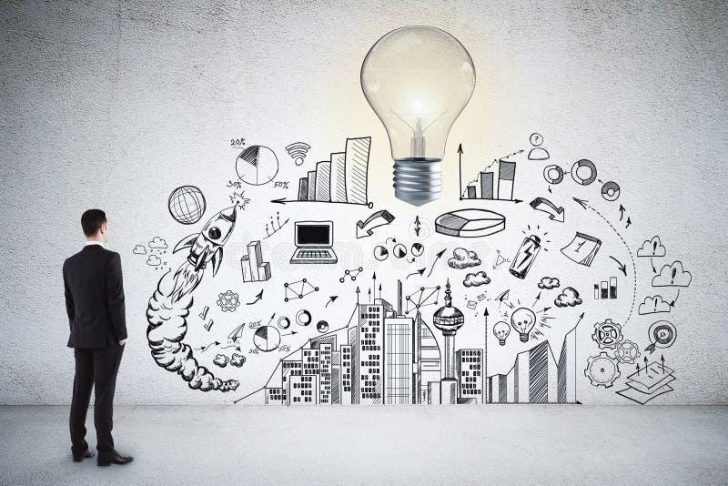 Concept d'idée, de solution et de plan images stock