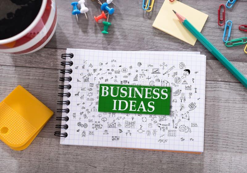 Concept d'idées d'affaires sur un bloc-notes photographie stock