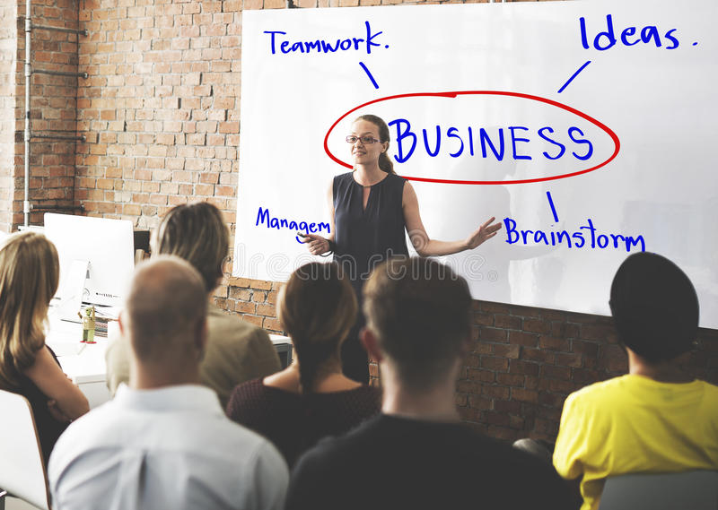 Concept d'idées de travail de planification d'échange d'idées d'affaires photo stock