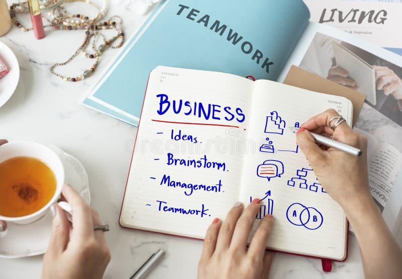 Concept d'idées de travail de planification d'échange d'idées d'affaires images stock