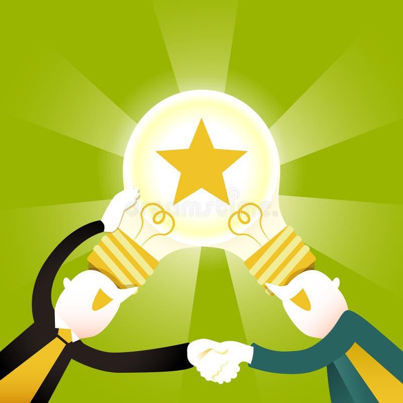 Concept d'illustration de collaboration créative illustration libre de droits