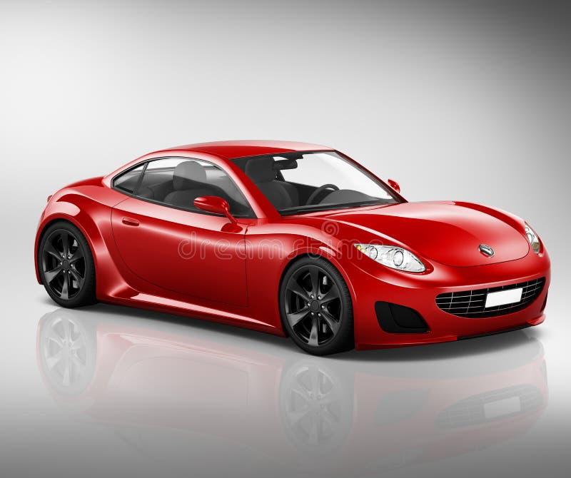 concept d'illustration de transport de véhicule de voiture de sport 3D illustration libre de droits