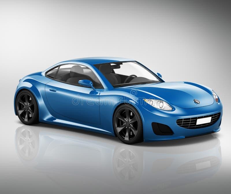 concept d'illustration de transport de véhicule de voiture de sport 3D illustration de vecteur