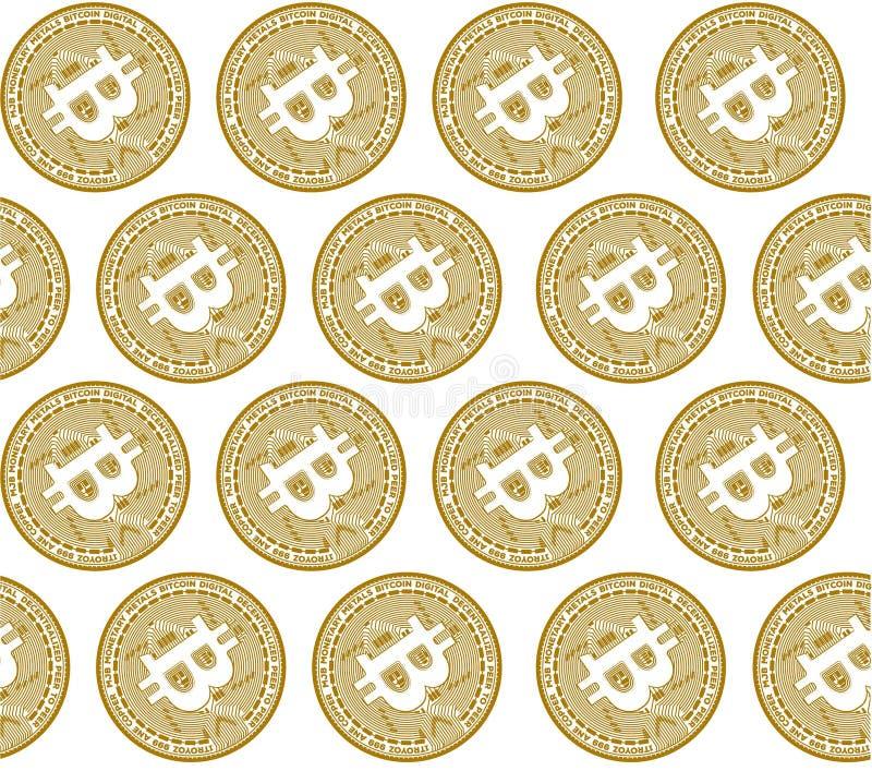Concept d'illustration de vecteur de crypto symbole de pièce de monnaie de Bitcoin Noir sur le fond blanc illustration stock