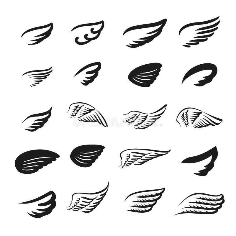 Concept d'illustration de vecteur de logo d'ailes Graphisme sur le fond blanc illustration libre de droits