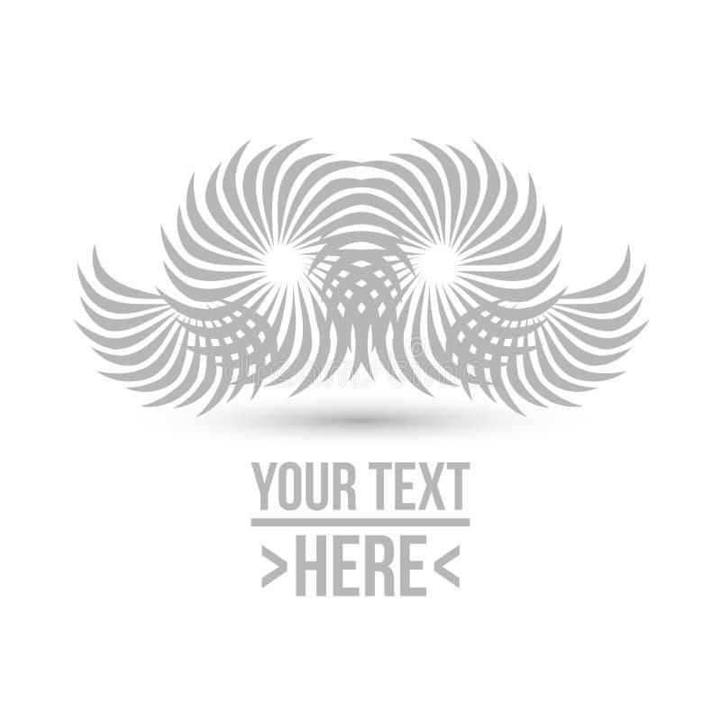 Concept d'illustration de vecteur de logo de hibou Graphisme sur le fond blanc illustration stock