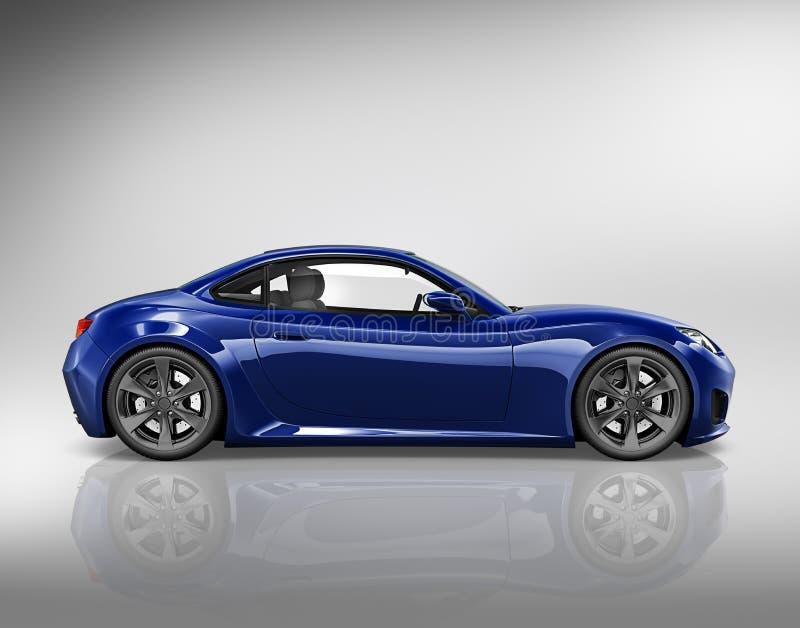 Concept d'illustration du transport 3D de véhicule de voiture illustration stock