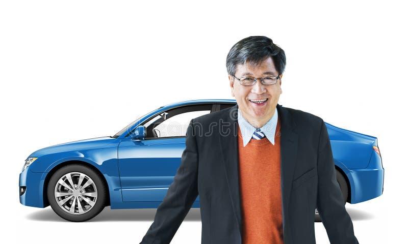 Concept d'illustration du transport 3D de véhicule de voiture illustration de vecteur