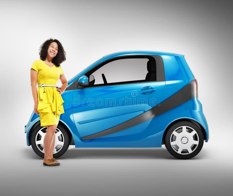 Concept d'illustration du transport 3D de véhicule de voiture d'Eco illustration libre de droits