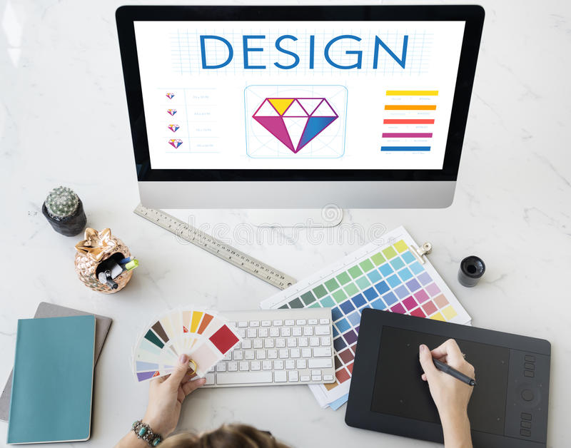 Concept d'imagination créative de conception graphique photo stock