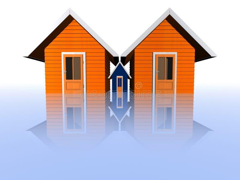 Concept d'immeubles illustration stock