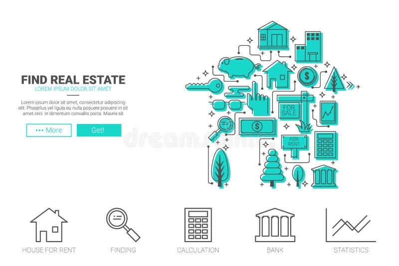 Concept 6 d'immeubles illustration de vecteur