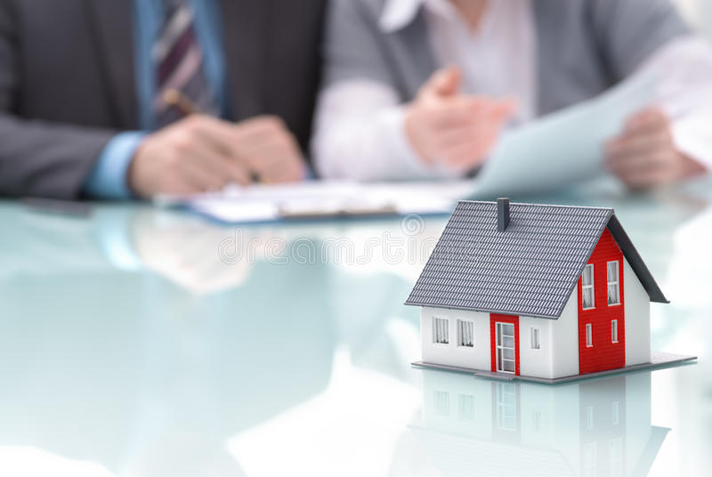 Concept d'immobiliers image libre de droits
