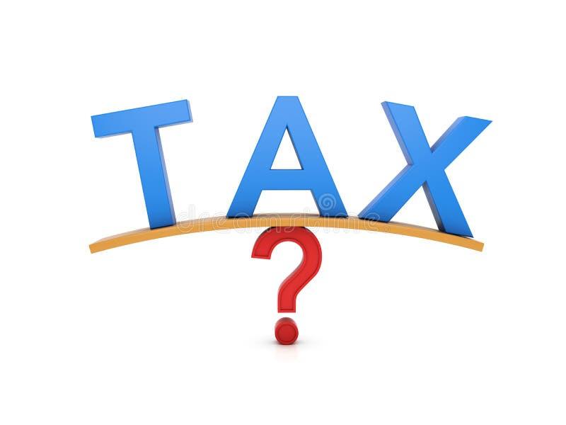 Concept d'impôts illustration libre de droits