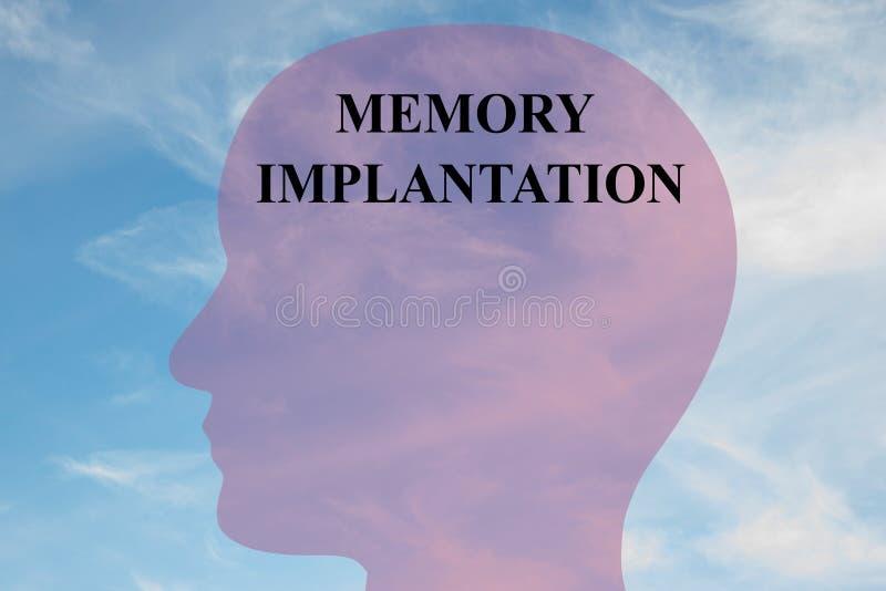 Concept d'implantation de mémoire illustration libre de droits