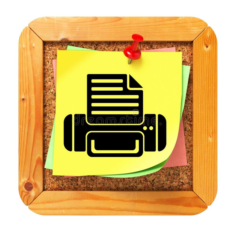 Concept d'impression - autocollant jaune sur la table des messages. photos libres de droits