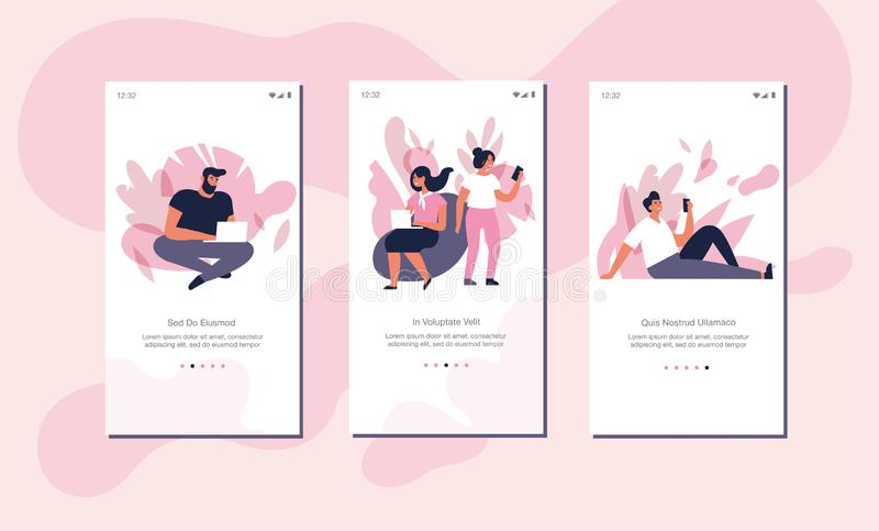 Concept d'indépendants d'illustration de vecteur pour le site Web ou la page mobile d'appli à bord de l'écran Les gens recherchan illustration de vecteur