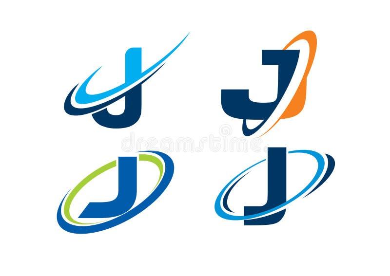 Concept d'infini de la lettre J image libre de droits