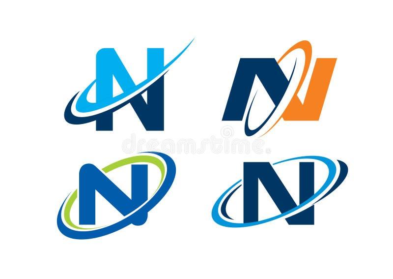 Concept d'infini de la lettre N photo stock