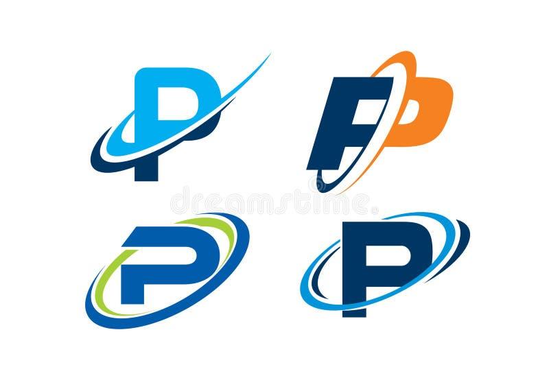 Concept d'infini de la lettre P image libre de droits