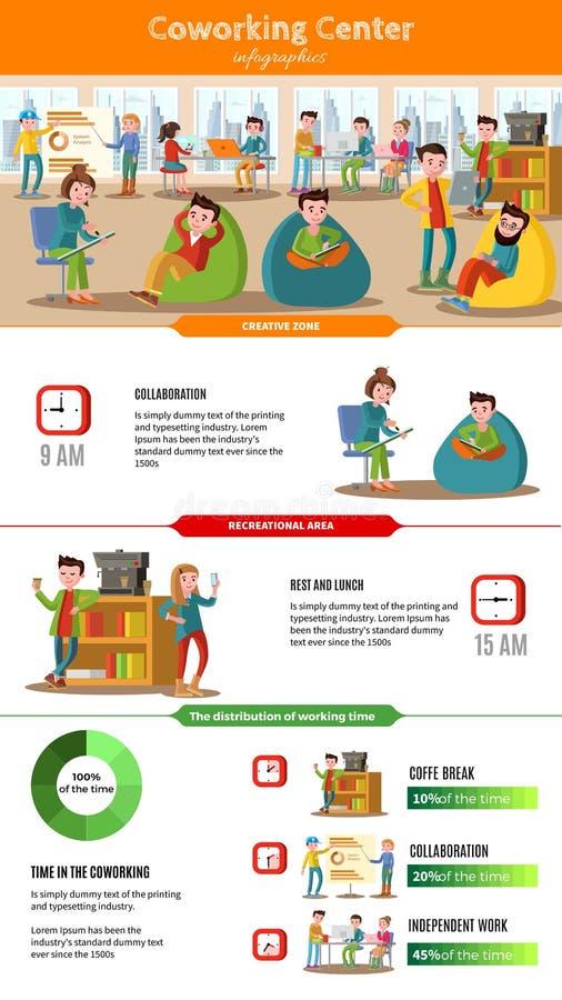 Concept d'Infographic de personnes de travail d'équipe illustration de vecteur