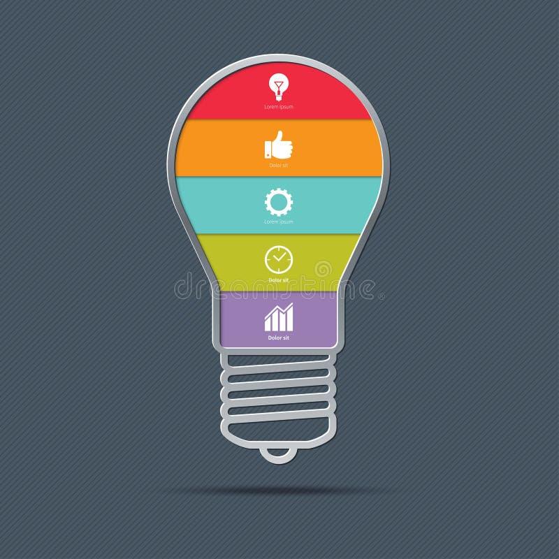 Concept d'infographics d'ampoule illustration stock