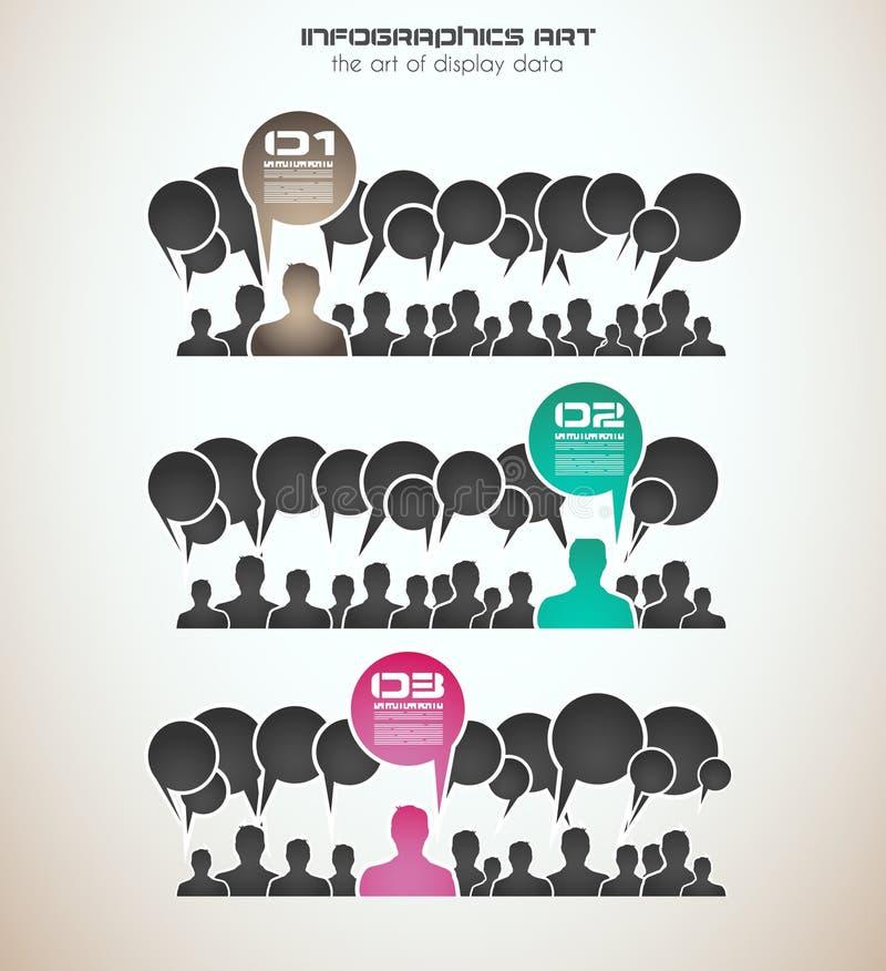 Concept d'Infographics pour montrer vos données illustration libre de droits