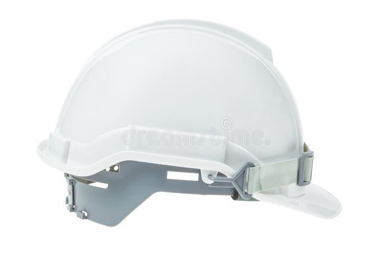 Concept d'ingénierie, casque de sécurité sur le blanc photographie stock