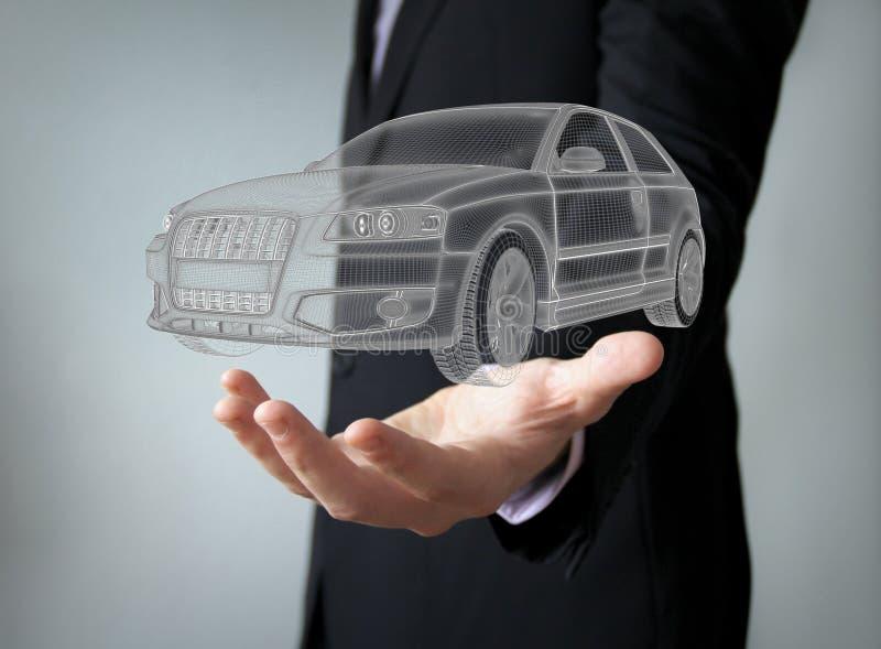 Concept d'ingénierie de voiture illustration stock